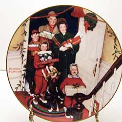 Merry Christmas Grandma collector plate by Norman Rockwell