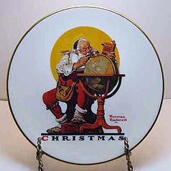 Planning Christmas Visits collector plate by Norman Rockwell