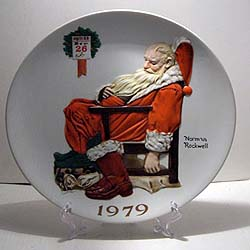 The Day After Christmas collector plate by Norman Rockwell