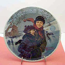 Christmas Courtship collector plate by Norman Rockwell