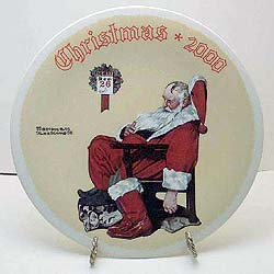 Day After Christmas collector plate by Norman Rockwell