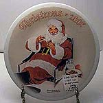 Santa Eating Milk and Cookies